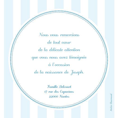 Carte de remerciement Petites douceurs bleu - Page 2