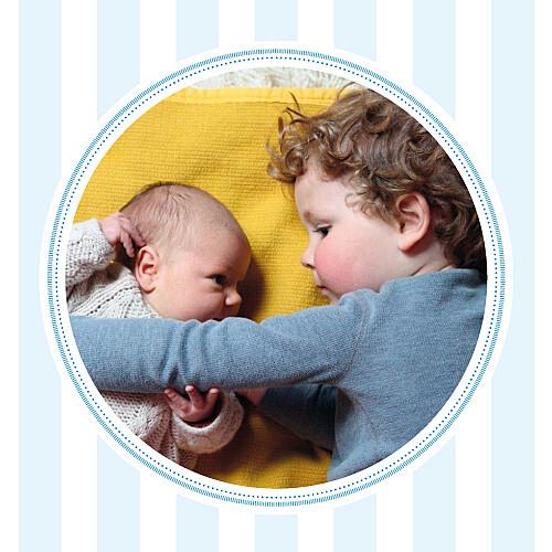 Carte de remerciement Petites douceurs photo bleu