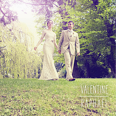 Carte de remerciement mariage Toi & moi blanc finition