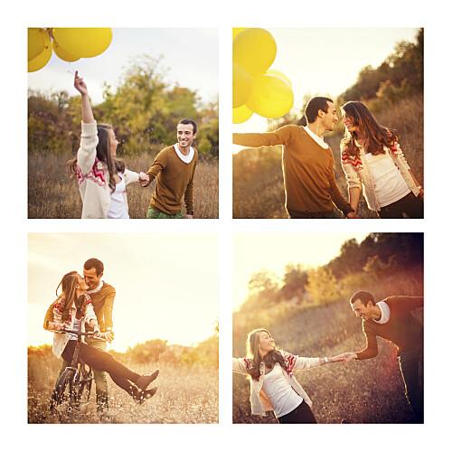 Carte de remerciement mariage Guinguette 4 photos pastel - Page 2
