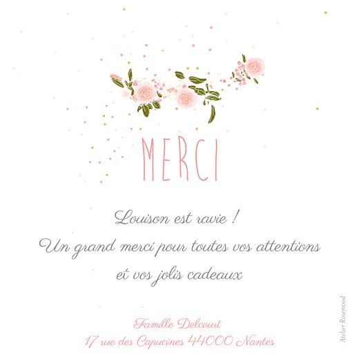 Carte de remerciement Merci bucolique photo gris rose - Page 2
