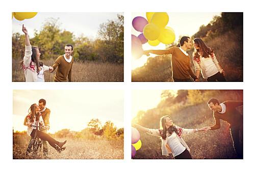 Carte de remerciement mariage Guinguette paysage 4 photos pastel - Page 2