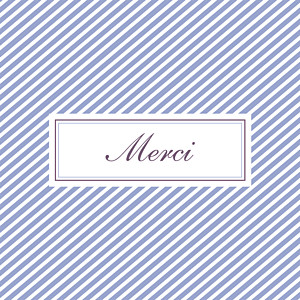 Carte de remerciement violet merci cambridge violet