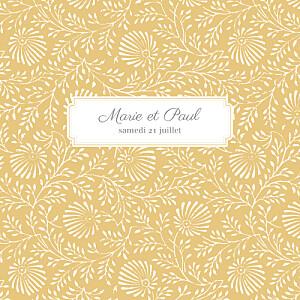 Faire-part de mariage jaune idylle (4 pages) pollen