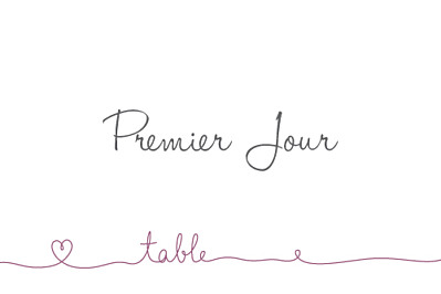 Marque-table mariage Tendresse violet finition