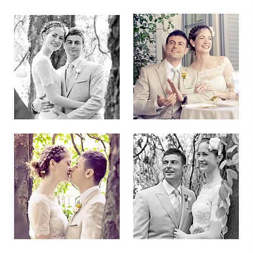 Carte de remerciement mariage Grand souvenir 6 photos blanc - Page 2