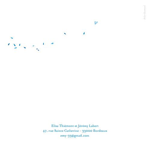 Faire-part de mariage Grand bouquet bleu - Page 4
