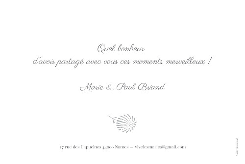 Carte de remerciement mariage Idylle 2 photos gris - Page 2