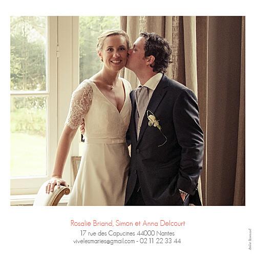 Carte de remerciement mariage Moderne 2 photos blanc - Page 2