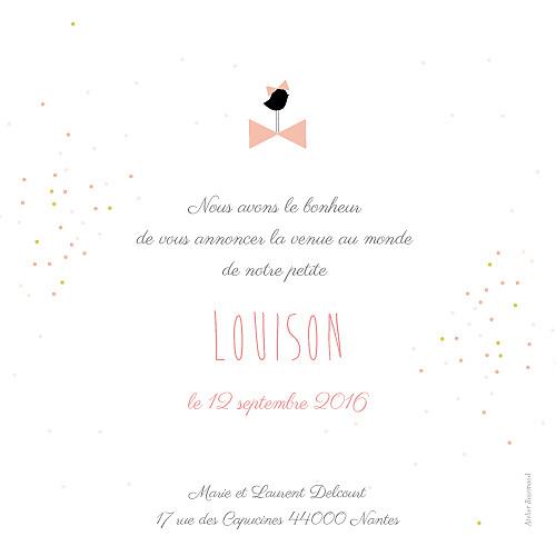 Faire-part de naissance Bucolique gris rose - Page 2