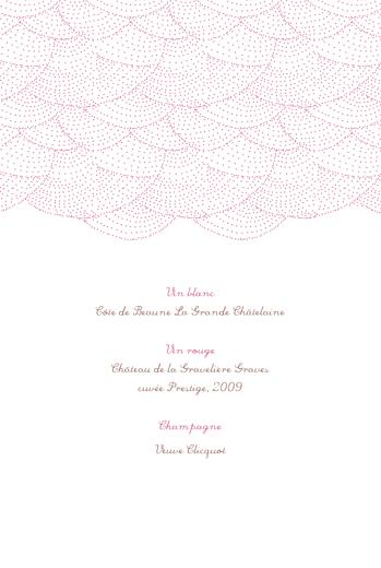 Menu de baptême Délicatesse rose - Page 2