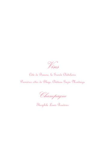 Menu de baptême Versailles rose - Page 2