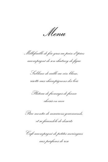 Menu de baptême Versailles rose - Page 3