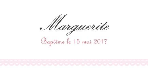 Marque-place Baptême Versailles rose - Page 4