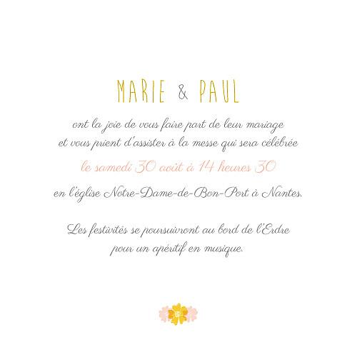 Faire-part de mariage Tandem rose ocre - Page 3