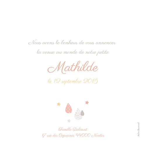 Faire-part de naissance Tombe la pluie rose - Page 2
