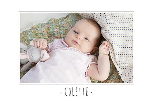 Faire-part de naissance Big dots photo rose - Page 2