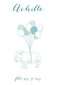 Carte d'anniversaire mixte cornélium photo bleu