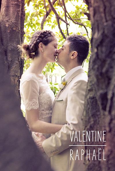 Carte de remerciement mariage Toi & moi (portrait) 3 photos blanc finition