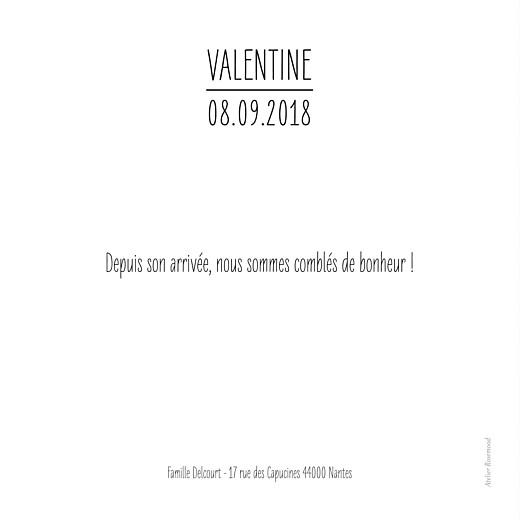 Faire-part de naissance L\'essentiel noir - Page 2