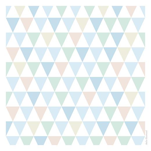 Faire-part de naissance Triangles (3 photos) bleu - Page 4