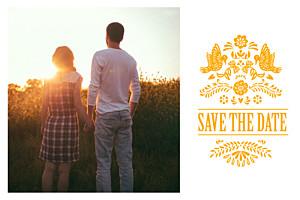 Save the date orange papel picado soleil