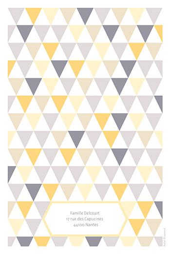 Faire-part de naissance Triangles bilingue (2 photos) jaune taupe - Page 4