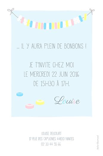 Carte d'anniversaire Collier de bonbons bleu