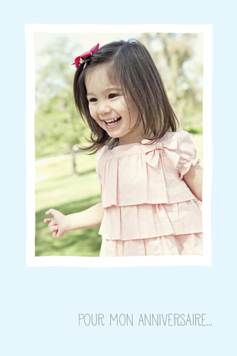 Carte d'anniversaire Collier de bonbons bleu - Page 2