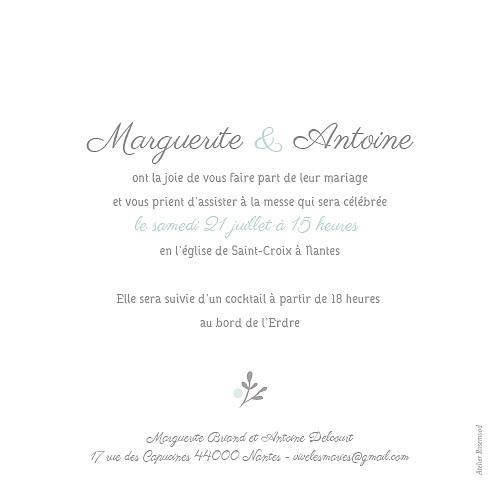 Faire-part de mariage Couronne champêtre menthe - Page 2