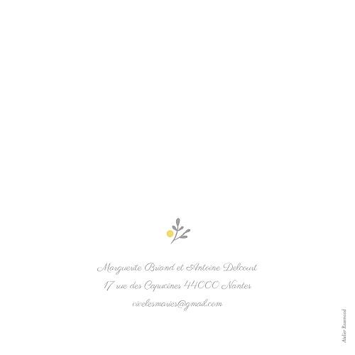 Faire-part de mariage Couronne champêtre (4 pages) blanc ocre - Page 4