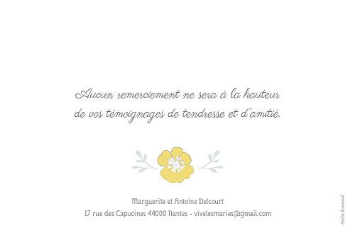Carte de remerciement mariage Couronne champêtre blanc ocre - Page 2