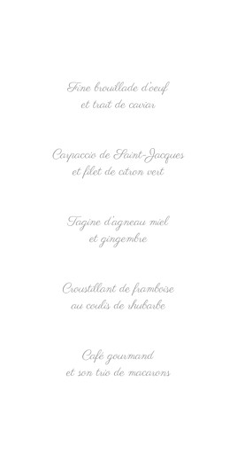 Menu de mariage Couronne champêtre (4 pages) blanc ocre - Page 3