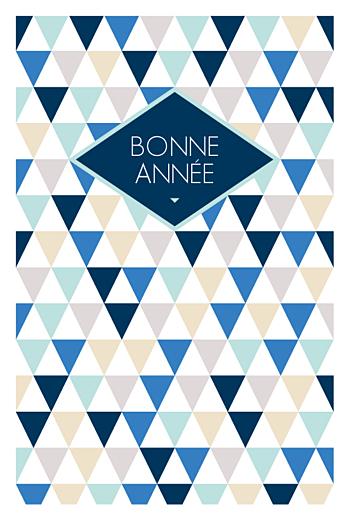 Carte de voeux Triangles photo bleu