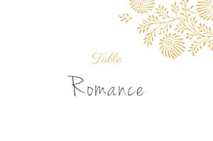 Marque-table mariage jaune idylle pollen