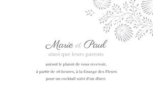 Carton d'invitation mariage Idylle (paysage) gris