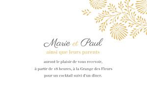 Carton d'invitation mariage jaune idylle (paysage) pollen
