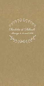 Menu de mariage kraft poème (4 pages) kraft