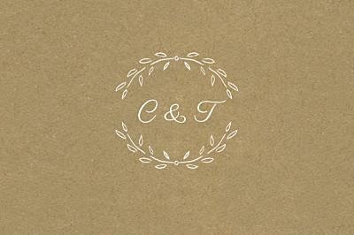 Carton réponse mariage Poème kraft finition