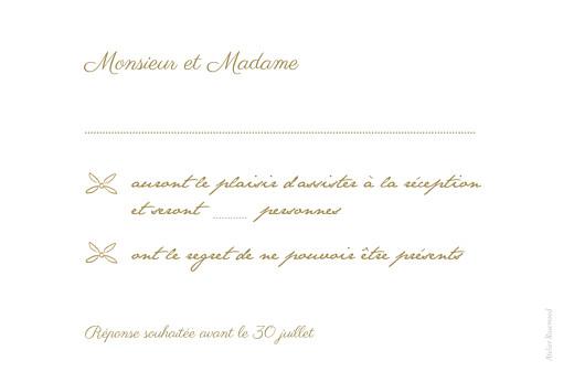 Carton réponse mariage Poème kraft - Page 2