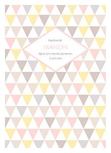 Livret de messe marguerite courtieu triangles rose