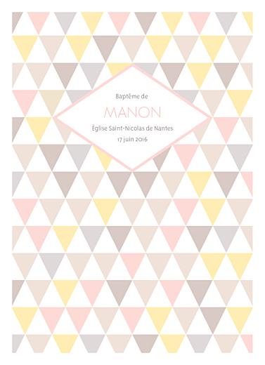 Livret de messe Triangles rose