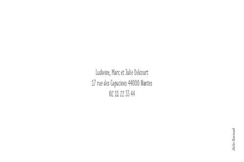 Carte de voeux Bonne année (4 pages) blanc