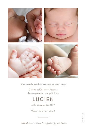 Faire-part de naissance L'annonce (5 photos) blanc - Page 2