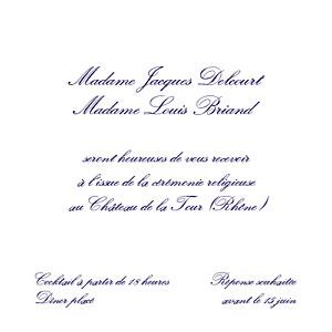 Carton d'invitation mariage avec photo élégant blanc
