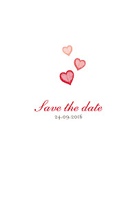 Save the date rouge coeurs rouge