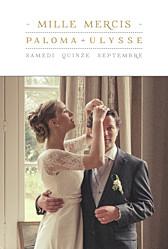 Carte de remerciement mariage marianne fournigault la vie est belle ! blanc
