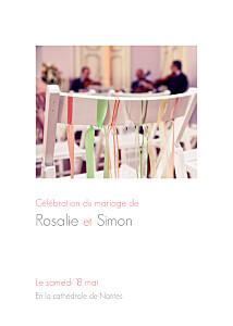 Livret de messe mariage Moderne photo blanc
