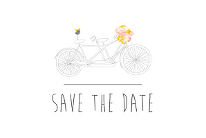 Save the date rose tandem rose ocre
