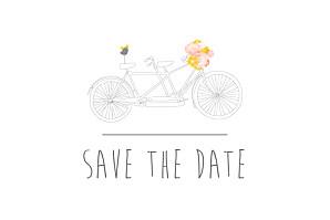 Save the date rose tandem rose ocre
